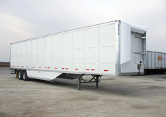 Semi Trailer with Belly and Gap Fairings for More Fuel Savings